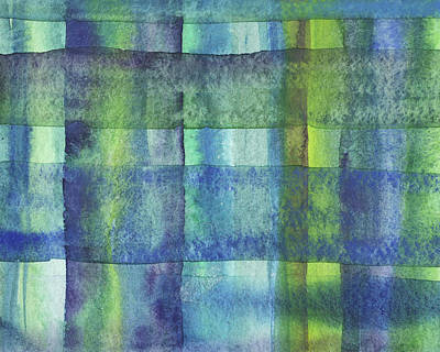 Royalty-Free and Rights-Managed Images - Feeling Ocean And Sea Beach Coastal Art Organic Watercolor Abstract Lines XIV by Irina Sztukowski