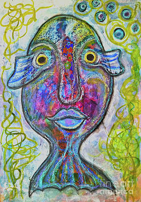 Mixed Media - Femme Poisson by Mimulux patricia No