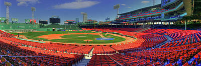 Sports Royalty-Free and Rights-Managed Images - Fenway Park Interior Panoramic - Boston by Joann Vitali