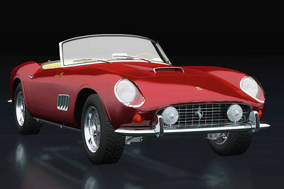 Outerspace Patenets Rights Managed Images - Ferrari 250 GT Spyder California 1960 three-quarter view Royalty-Free Image by Jan Keteleer