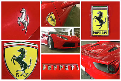 Farmhouse Rights Managed Images - Ferrari Collage Royalty-Free Image by Shoal Hollingsworth