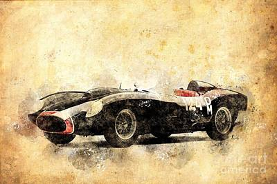 City Scenes - Ferrari Testarossa 1957 by Drawspots Illustrations