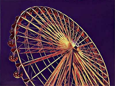 Surrealism Royalty-Free and Rights-Managed Images - Ferris Wheel by Surreal Jersey Shore