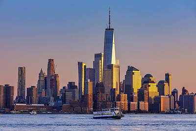 Summer Trends 18 - Ferry Passing the Freedom Tower by Jerry Fornarotto