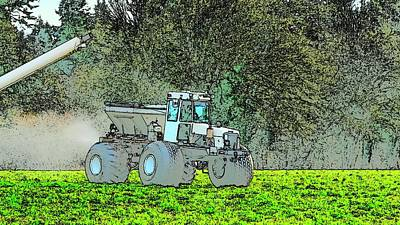 Jerry Sodorff Royalty-Free and Rights-Managed Images - Fertilizer Equipment In Action by Jerry Sodorff