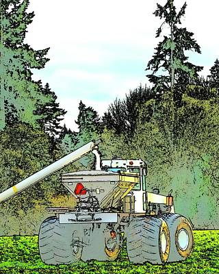 Jerry Sodorff Royalty-Free and Rights-Managed Images - Fertilizer Spreader Filling Up by Jerry Sodorff