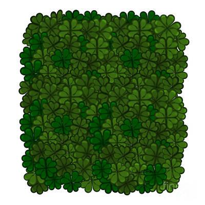 Photograph - Field of Shamrocks Digital Art Pattern for Saint Patricks Day by Colleen Cornelius