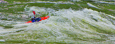 Sports Royalty-Free and Rights-Managed Images - Fighting The Rapids by Scotty Baby
