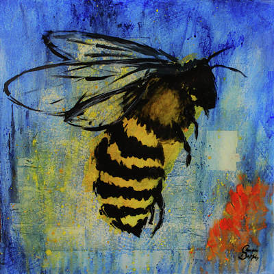 Mixed Media - Filling the Hive by Charlotte DeMolay