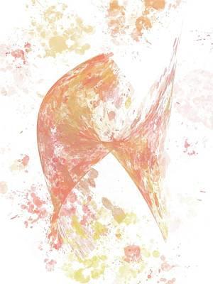 Digital Art - Finding a Butterscotch Butterfly by Joan Ellen Kimbrough Gandy of The Art of Gandy