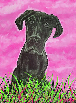 Painting - Finley Pink by Dink Densmore