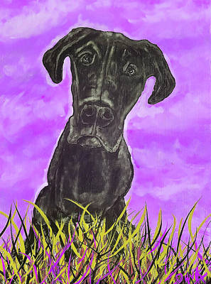 Painting - Finley Purple by Dink Densmore