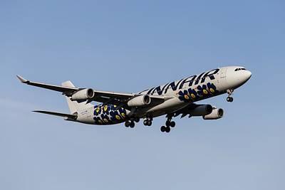 Tina Turner - Finnair Airbus A340-313 Poppy Livery by David Pyatt
