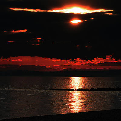 Photograph - Fire in the Sky by William Selander