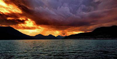 Photograph - Fire Mountain by Montez Kerr