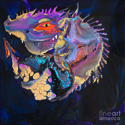 Kitchen Mark Rogan - Fish Dragon 7401 by Priscilla Batzell Expressionist Art Studio Gallery
