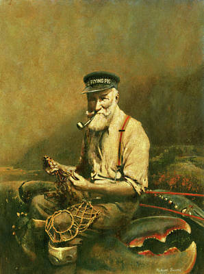 Surrealism Royalty-Free and Rights-Managed Images - Fishermans Tale by Michael Thomas