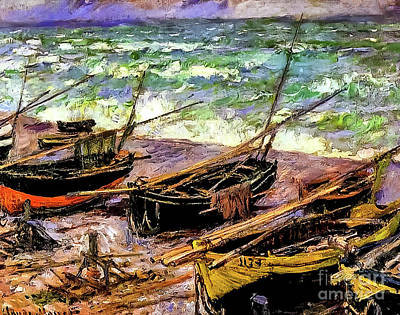 Advertising Archives - Fishing Boats by Claude Monet 1885 by Claude Monet