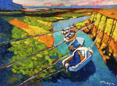 Painting - Fishing Boats Scotland by Mike Bergen