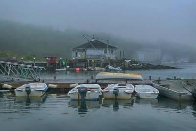 Bicycle Patents - Fishing Harbor in Thomaston, Maine by Joann Vitali