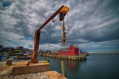 Leonardo Da Vinci - Fishing Harbor - Rockport, Ma. by Joann Vitali