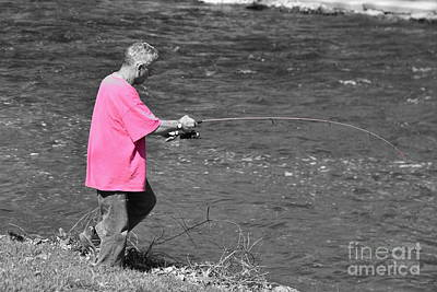 Terry Oneill - Fishing in Pink by J Lloyd