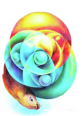 Drawing - Fishy Ball by Symona Colina