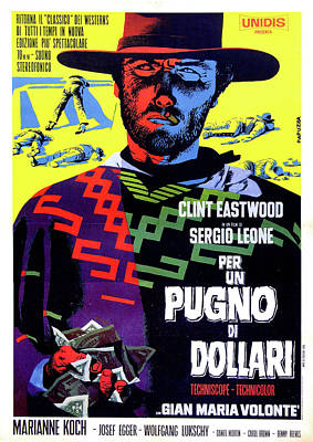 Mixed Media Royalty Free Images - Fistful of Dollars movie poster 1964 Royalty-Free Image by Stars on Art