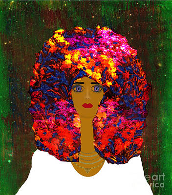 Mixed Media Royalty Free Images - Flair For Fashion Royalty-Free Image by Diamante Lavendar