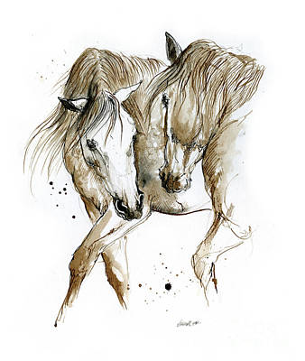 Animals Drawings - Flamenco 2020 01 12 by Angel Ciesniarska