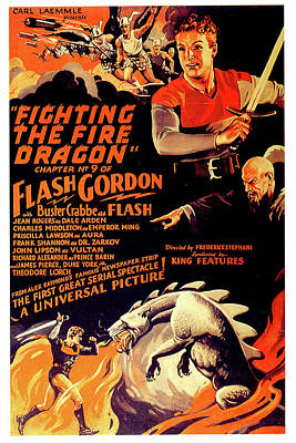 Mixed Media Royalty Free Images - Flash Gordon Conquers the Universe movie poster 1940 Royalty-Free Image by Stars on Art