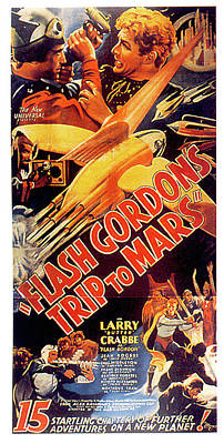 Mixed Media Royalty Free Images - Flash Gordons Trip to Mars movie poster 1938 Royalty-Free Image by Stars on Art