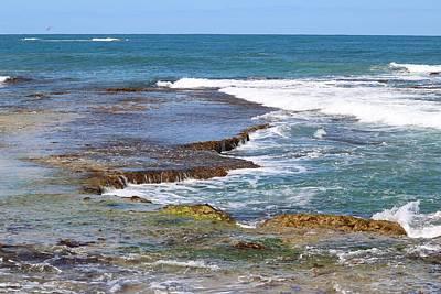Billiard Balls Royalty Free Images - Flat Rocks Gentle Waves Royalty-Free Image by Michaela Perryman