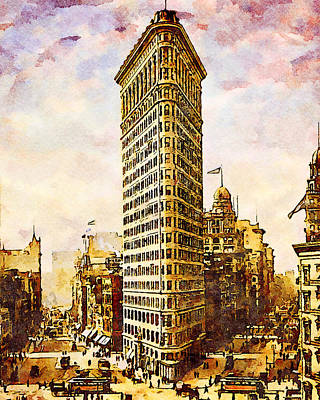 Granger Royalty Free Images - Flatiron Building, New York 1903 Royalty-Free Image by Joe Vella