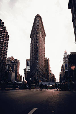 Surrealism Royalty-Free and Rights-Managed Images - Flatiron, NYC Skyline, New York, United States - Surreal Art by Ahmet Asar by Celestial Images
