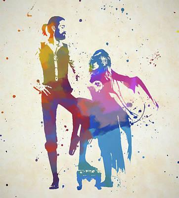 Music Paintings - Fleetwood Mac Color Splash by Dan Sproul