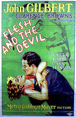 Royalty-Free and Rights-Managed Images - Flesh and the Devil movie poster 1926 by Stars on Art