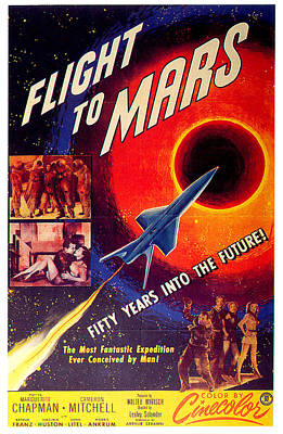 Sean Rights Managed Images - Flight to Mars movie poster 1951 Royalty-Free Image by Stars on Art