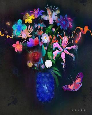 Digital Art - Floral by Jordan Soliz