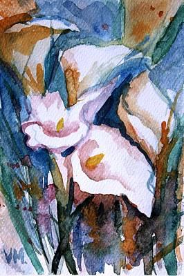 Farm Life Paintings Rob Moline - Floral Miniature by Vesna Martinjak