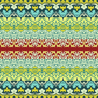 Royalty-Free and Rights-Managed Images - Floral ornamental seamless pattern by Julien