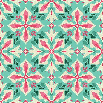 Royalty-Free and Rights-Managed Images - Floral vintage seamless pattern by Julien