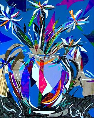 Mixed Media - Flores Series - Starry Daisies by Jimmy Longoria