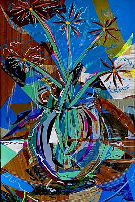 Mixed Media - Flores Series - Exploding Daisies by Jimmy Longoria