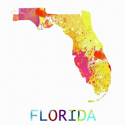 Not Your Everyday Rainbow - Florida Color Splash Map by Dan Sproul