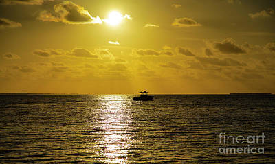 Thomas Kinkade Rights Managed Images - Florida Keys Sunset A Moment in Heaven Royalty-Free Image by Wayne Moran