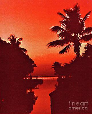 Mixed Media Royalty Free Images - Florida Sunset Royalty-Free Image by Sharon Williams Eng