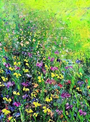 Painting - Flower fields Lilac  by Julia S Powell