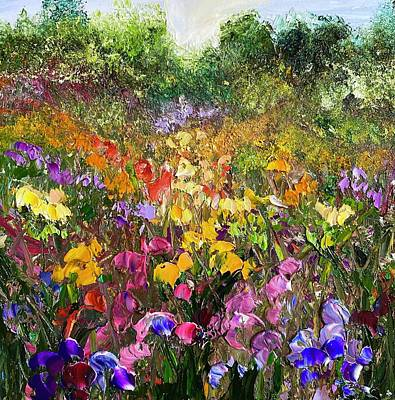 Painting - Flower Fields Russet Palette  by Julia S Powell