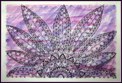 Drawings Royalty Free Images - Flower Mandala Royalty-Free Image by Sonali Gangane